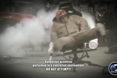 """Watch AZN From Street Outlaws Almost Die In The """"Nitrous Chair"""""""