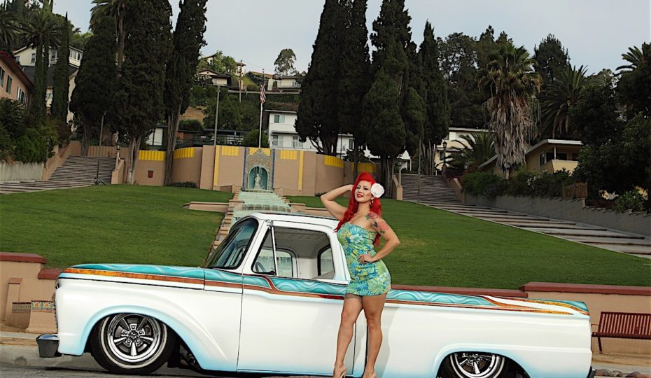 Our Babe Of The Month Miss Marisol With A Sweet '65 Ford F100