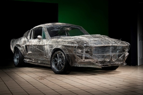This Life-Size Shelby GT500 Is A Work Of Wire Art