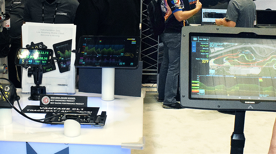 PRI 2017: Racepak Records Data and GPS on the Strip and Road Course